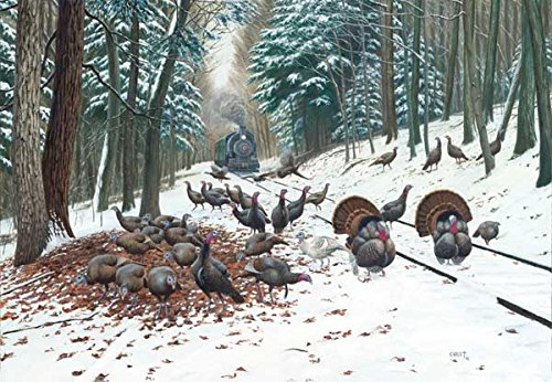 Winter Turkey Tracks a 500-Piece Jigsaw Puzzle by Sunsout Inc.