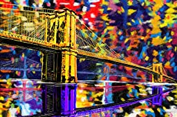 Maxwell Dickson ''Brooklyn Bridge'' New York City Canvas Art Print Artwork