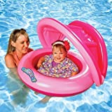 Sun Smart Grow with Me 2-in-1 Sun Shade Baby Boat and Swim Trainer for Girls