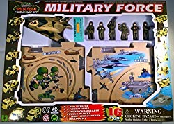 Puzzle Car Set Battery Operated Military Force Jet Aircraft Play Set