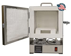 Rapidfire Pro Kiln w/Digital Programmable Controller for PMC Jewelry Making, Beadmaking (Color: Stainless Steel)