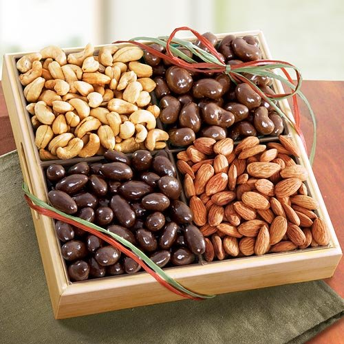 Savory and Chocolate Nuts Gift Tray