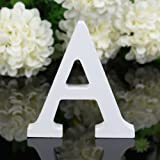 Totoo Decorative Wood Letters, Hanging Wall 26 Letters Wooden Alphabet Wall Letter for Children Baby Name Girls Bedroom Wedding Brithday Party Home Decor-Letters (A)