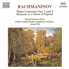 Rachmaninov: Piano Concertos Nos. 1 And 4
