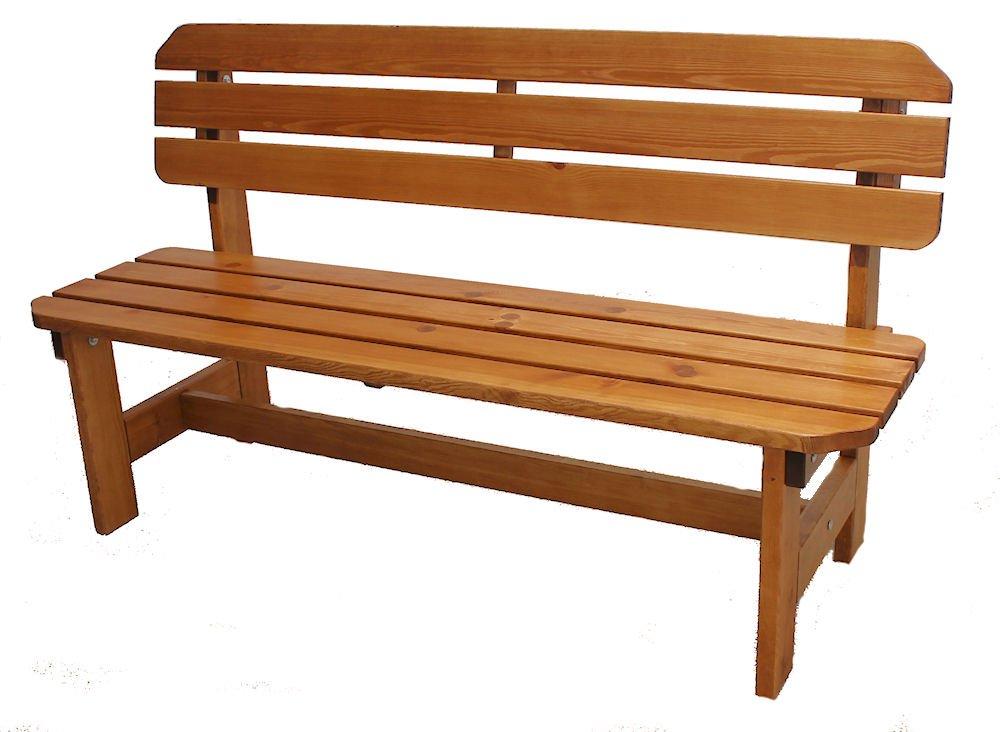 Massivholz Gartenbank ORB Kiefer , Holzfarbe Nuss , B 150 cm , Holz 32/28 mm !
