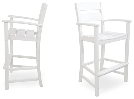Ivy Terrace IVS110-1-WH Classics 2-Piece Bar Arm Chair Set, White