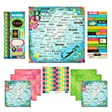 Scrapbook Customs Themed Paper and Stickers Scrapbook Kit, Bermuda Paradise