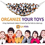 Toy Hammock - A Large Storage Net For Stuffed Animals and Toys - Helps your child organize their room.