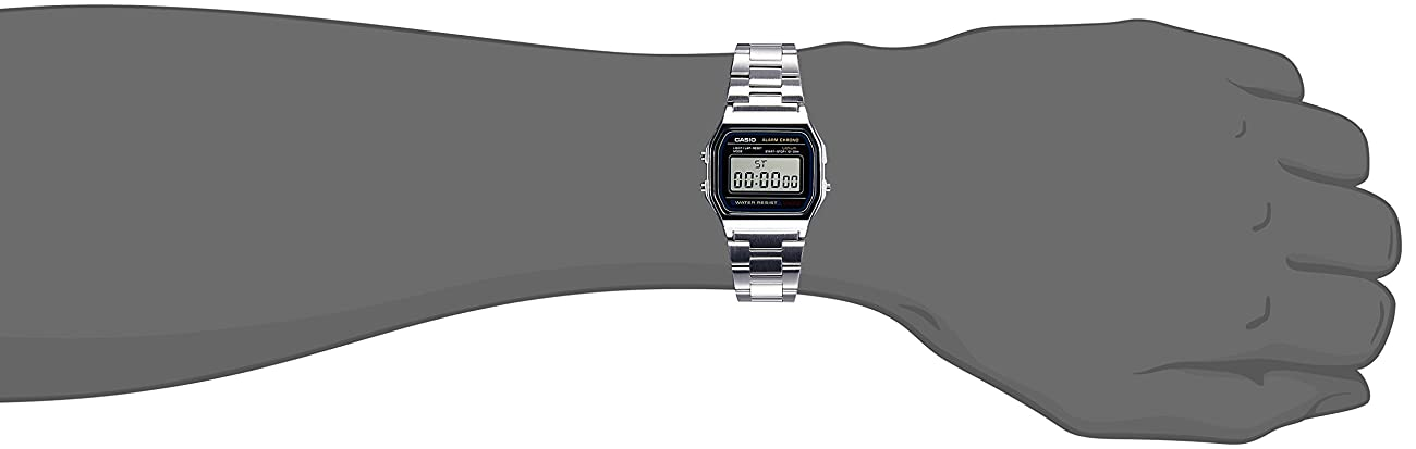 Casio Men'sA158WA-1DF Stainless Steel Digital Watch 3