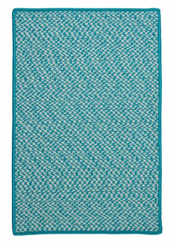 Indoor/Outdoor American Made Textured Rug 2-Feet by 3-Feet Turquoise Carpet