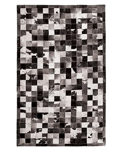 Natural Brand Barcelona Cowhide Patches Rug, Black & White, 5' x 8'
