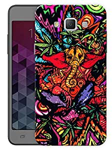 """Humor Gang Ganesha Neon Trippy Printed Designer Mobile Back Cover For """"Samsung Galaxy E5"""" (3D, Matte, Premium Quality Snap On Case)"""