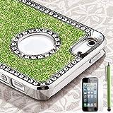 Pandamimi Deluxe Light Green Diamond Rhinestone Glitter Bling Chrome Hard Case Cover for Apple iPhone 5 5G + Screen Protector + Stylus Reviews