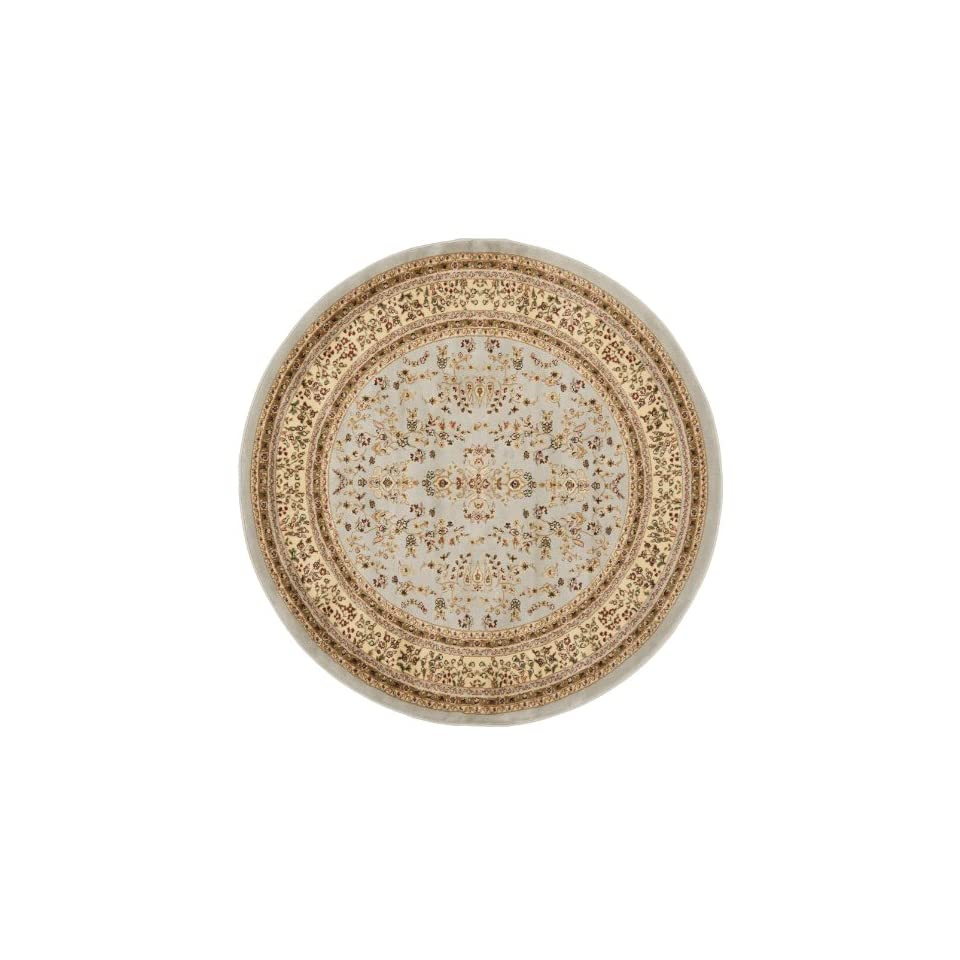 Safavieh Lyndhurst Collection LNH331G Traditional Oriental Grey and Beige Round Area Rug (6 Diameter)
