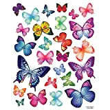 Nursery Easy Apply Wall Sticker Decorations - Vivid Colorful Butterflies