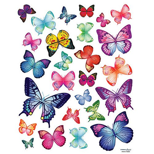 Butterfly wall stickers beautiful wall decals for for Butterfly wall mural stickers