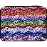 Snoogg Woollen Sewed Pattern 13 To 13.6 Inch Laptop Netbook Notebook Slipcase Sleeve
