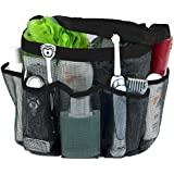 Attmu Oxford Mesh Shower Caddy, Shower Tote, Shower Bag, Bathrooms Bag, Black