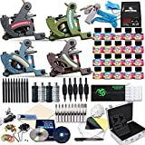 Dragonhawk Complete Tattoo Kit 4 Standard Tunings Tattoo Machine Guns Power Supply 20 Color Immortal Inks 50 Needles Tips Grips with Case D139GD