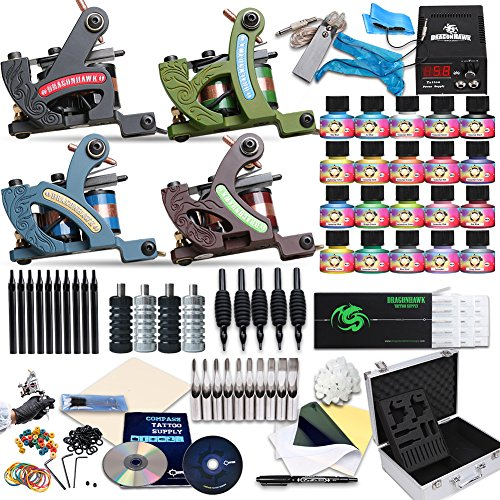 Dragonhawk complete tattoo kits tattoo kit 4 standard for Tattoo supplies ebay