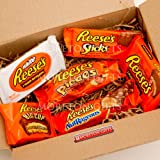 Reese's Lovers Treat Box - Peanut Butter Milk and White Cups, Big Cup, Nutrageous, Pieces & Sticks - By Moreton Gifts - Great Gift Idea