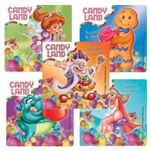 Candy Land Scented Stickers - Party Favors - 50 per Pack