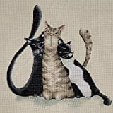 Tobin Counted Cross-Stitch Kit Kitty Trio WLM