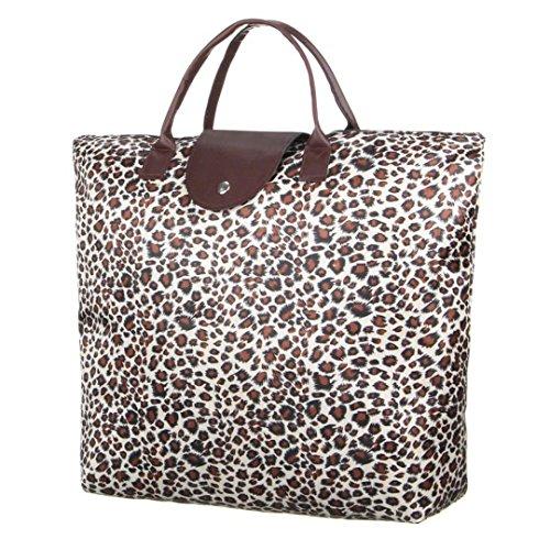 sac a main cabas sac de plage shopping marron leo nouvelle collection pliage