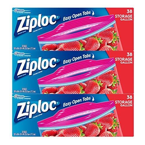 Ziploc Storage Bag, Gallon, 114 Count (Ct Loc compare prices)