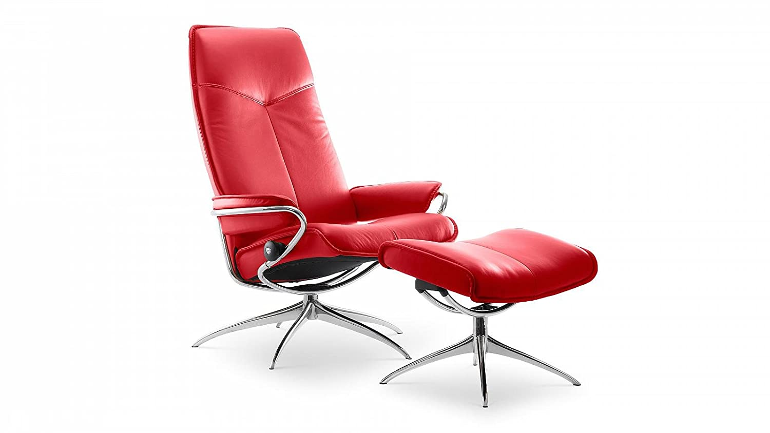 Stressless® City Sessel mit Hocker (M) High back Rot günstig günstig