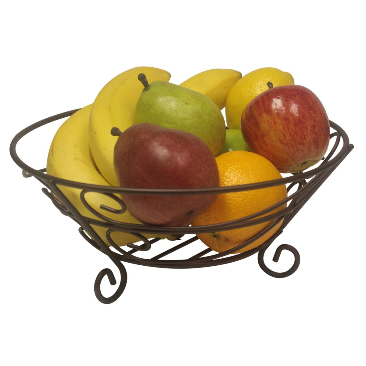 Home Basics Scroll Collection Fruit Basket