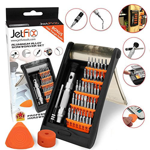 Jetfix Magnetic Precision Screwdriver SET with Magnetizer & Electronic Opener for iPhones, PC, Maintenance Samsung Galaxy, watch, Cell Phone, jewelers,