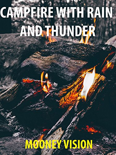 Campfire On Your Tv With Rain and Thunder
