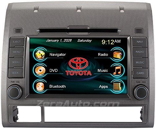 2005-2012 Toyota Tacoma In-Dash GPS Navigation Stereo DVD CD Player FM AM Radio 7 Inch Touchscreen Bluetooth AV Receiver USB SD iPod iPhone Install Ready Multimedia Deck OEM Replacement Head Unit (Toyota Tacoma Stereo System compare prices)
