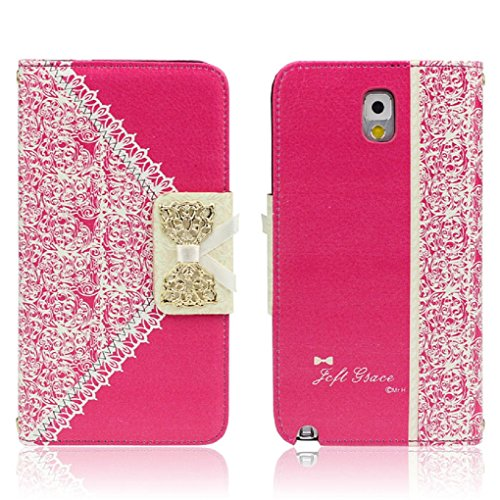ukamshop-cute-pink-lace-bow-flip-wallet-leather-case-cover-samsung-galaxy-note-3-hot-pink