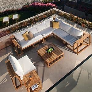 Maya Teak Luxury Outdoor Furniture Sofa Set