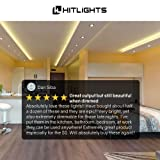 HitLights Warm White LED Light Strip, Premium High Density 3528-16.4 Feet, 600 LEDs, 3000K, 164 Lumens per Foot. UL-Listed. 12V DC Tape Light for Under Cabinet, Kitchen, Household& More (Color: Warm White, Tamaño: Indoor Use - 600LED)