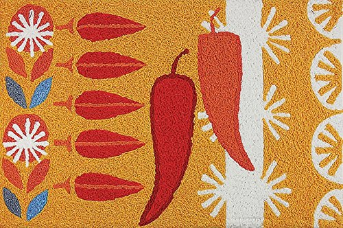 Retro Chili Pepper Kitchen Rug
