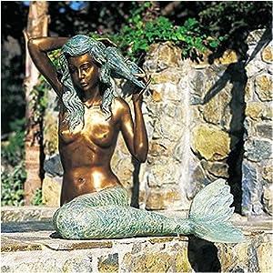 "Sea Life Mermaid Fountain Finish: Bronze, Size: Large (34""H x 34""L)"