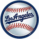"""Amscan Los Angeles Dodgers Round Dinner Plates, 9"""""""