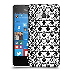 Snoogg Dark Black Pattern Designer Protective Phone Back Case Cover For Nokia Lumia 550