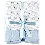 Amazon.co.jpHudson Baby ハドソンベビー  モスリンコットン おくるみ ブランケット 2枚セット Muslin Swaddle Blankets 2pk (羊ブルー) [並行輸入品]