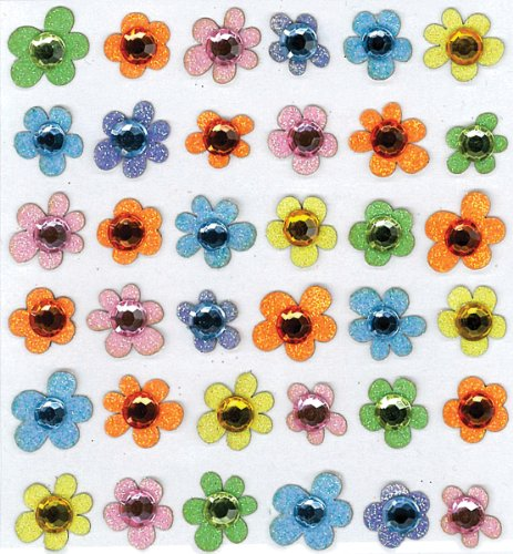 Jolee's Boutique Baby Gem Flowers Dimensional Stickers (Jolees Gems compare prices)