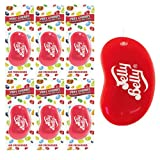 6 x JELLY BELLY 3D BEAN SWEETS SCENT CAR AIR FRESHENER - VERY CHERRY