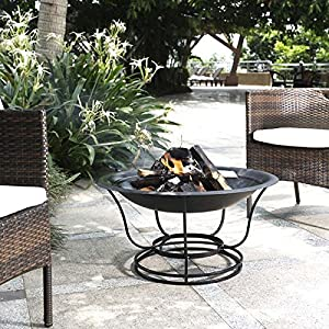Crosley outdoor 30 round fire pit chiminea for Amazon prime fire pit