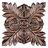 Uttermost, Four Leaves Plaque, Metal Wall Art