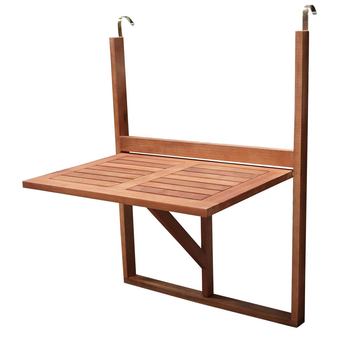 Balkonhängetisch 60x40cm klappbar, Eukalyptusholz günstig kaufen