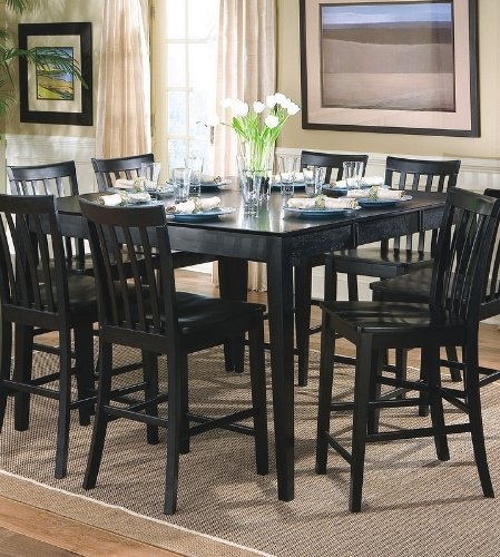 Buy Low Price Coaster Contemporary Style Black Counter Height Dining Table (VF_101038BLK)