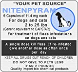 6 Capsules Nitenpyram 11.4 mg For pet between 2 to 25 pounds A single dose kill fleas.