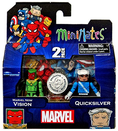 Marvel Minimates Exclusives Marvel Now Vision & Quicksilver Minifigure 2-Pack - 1
